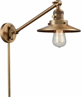 Innovations 237-BB-M4-BB Railroad Contemporary Brushed Brass Wall Swing Arm Lamp