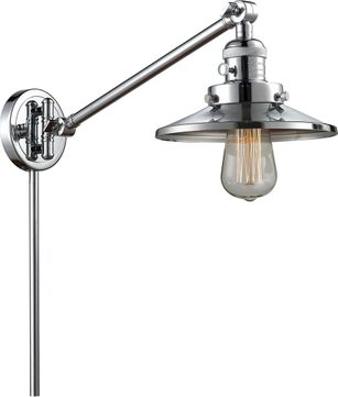 Innovations 237-PC-M7-PC Railroad Modern Polished Chrome Swing Arm Wall Lamp