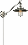 Innovations 237-SN-M2 Railroad Modern Brushed Satin Nickel Swing Arm Wall Lamp