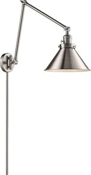 Innovations 238-SN-M10 Briarcliff Modern Brushed Satin Nickel Swing Arm Wall Lamp