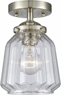 Innovations 284-1C-SN-G142 Nouveau Chatham Contemporary Brushed Satin Nickel Flush Mount Lighting