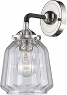 Innovations 284-1W-BPN-G142-LED Nouveau Chatham Contemporary Black Polished Nickel LED Wall Mounted Lamp