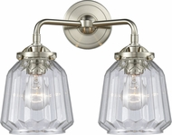 Innovations 284-2W-SN-G142-LED Nouveau Chatham Contemporary Brushed Satin Nickel LED 2-Light Bathroom Light Fixture