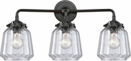 Innovations 284-3W-OB-G142 Nouveau Chatham Contemporary Oil Rubbed Bronze 3-Light Vanity Light Fixture
