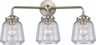 Innovations 284-3W-SN-G142 Nouveau Chatham Contemporary Brushed Satin Nickel 3-Light Bathroom Vanity Light Fixture