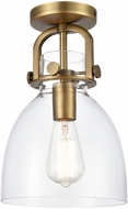 Innovations 412-1F Restoration Newton Dome Modern Ceiling Light Fixture