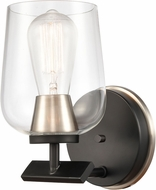 Innovations 420-1W-BSN-CL-LED Remy Contemporary Black Satin Nickel LED Wall Sconce Lighting