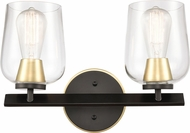 Innovations 420-2W-BSB-CL-LED Remy Contemporary Black Satin Brass LED 2-Light Bathroom Light Sconce