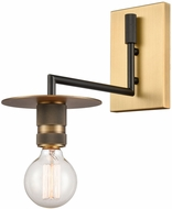 Innovations 432-1W-BBB Restoration Aurora Modern Black Brushed Brass Wall Sconce Lighting