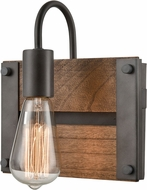 Innovations 435-1W-AG-LED Austin Contemporary Aged Gun Metal LED Wall Light Fixture