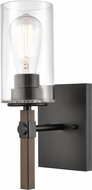 Innovations 445-1W-BK-CL Westlake Contemporary Matte Black Wall Mounted Lamp