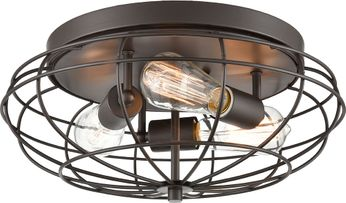 Innovations 510-3C-OB-LED Austere Muselet Contemporary Oil Rubbed Bronze LED Overhead Light Fixture