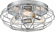 Innovations 510-3C-PC Austere Muselet Contemporary Polished Chrome Overhead Lighting Fixture