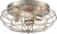 Innovations 510-3C-SN-LED Austere Muselet Modern Brushed Satin Nickel LED Ceiling Light Fixture