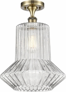 Innovations 516-1C-AB-G212-LED Ballston Springwater Contemporary Antique Brass LED Ceiling Light Fixture