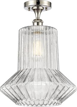 Innovations 516-1C-PN-G212 Ballston Springwater Contemporary Polished Nickel Ceiling Light Fixture