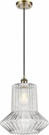 Innovations 516-1P-AB-G212-LED Ballston Springwater Contemporary Antique Brass LED Pendant Light