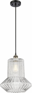 Innovations 516-1P-BAB-G212 Ballston Springwater Contemporary Black Antique Brass Hanging Lamp