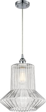 Innovations 516-1P-PC-G212-LED Ballston Springwater Contemporary Polished Chrome LED Drop Ceiling Lighting