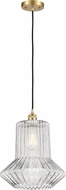Innovations 516-1P-SG-G212-LED Ballston Springwater Contemporary Satin Gold LED Drop Lighting Fixture