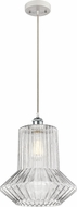 Innovations 516-1P-WPC-G212 Ballston Springwater Contemporary White and Polished Chrome Lighting Pendant