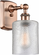 Innovations 516-1W-AC-G112-LED Ballston Cobbleskill Contemporary Antique Copper LED Sconce Lighting