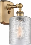 Innovations 516-1W-BB-G112 Ballston Cobbleskill Contemporary Brushed Brass Lamp Sconce