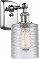 Innovations 516-1W-PC-G112 Ballston Cobbleskill Contemporary Polished Chrome Wall Mounted Lamp