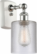 Innovations 516-1W-WPC-G112 Ballston Cobbleskill Modern White and Polished Chrome Sconce Lighting