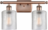 Innovations 516-2W-AC-G112-LED Ballston Cobbleskill Contemporary Antique Copper LED 2-Light Bathroom Light