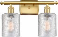 Innovations 516-2W-SG-G112-LED Ballston CoSGleskill Contemporary Satin Gold LED 2-Light Bathroom Wall Sconce