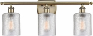 Innovations 516-3W-AB-G112-LED Ballston Cobbleskill Contemporary Antique Brass LED 3-Light Bathroom Wall Light Fixture