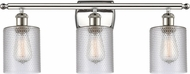 Innovations 516-3W-PN-G112-LED Ballston Cobbleskill Contemporary Polished Nickel LED 3-Light Bath Sconce