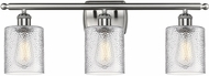 Innovations 516-3W-SN-G112-LED Ballston Cobbleskill Contemporary Brushed Satin Nickel LED 3-Light Bathroom Wall Sconce