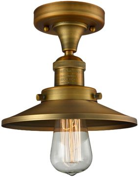 Innovations 517-1CH-BB-M4 Railroad Contemporary Brushed Brass Overhead Lighting