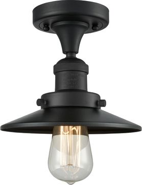 Innovations 517-1CH-BK-M6 Railroad Modern Matte Black Flush Mount Light Fixture