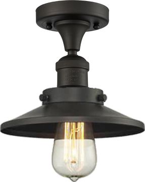 Innovations 517-1CH-OB-M5 Railroad Contemporary Oil Rubbed Bronze Flush Mount Lighting Fixture