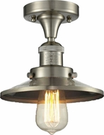 Innovations 517-1CH-SN-M2 Railroad Modern Brushed Satin Nickel Home Ceiling Lighting