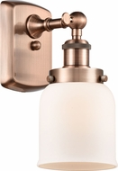 Innovations 916-1W-AC-G51 Ballston Small Bell Contemporary Antique Copper Wall Sconce