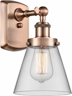 Innovations 916-1W-AC-G62-LED Ballston Small Cone Contemporary Antique Copper LED Wall Sconce Lighting