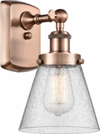 Innovations 916-1W-AC-G64-LED Ballston Small Cone Contemporary Antique Copper LED Lighting Wall Sconce