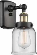 Innovations 916-1W-BAB-G52 Ballston Small Bell Contemporary Black Antique Brass Wall Mounted Lamp