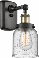 Innovations 916-1W-BAB-G54-LED Ballston Small Bell Contemporary Black Antique Brass LED Wall Light Sconce
