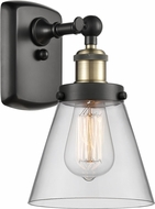 Innovations 916-1W-BAB-G62-LED Ballston Small Cone Modern Black Antique Brass LED Wall Sconce