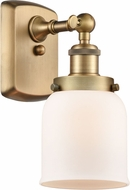 Innovations 916-1W-BB-G51-LED Ballston Small Bell Contemporary Brushed Brass LED Light Sconce