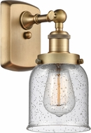 Innovations 916-1W-BB-G54 Ballston Small Bell Contemporary Brushed Brass Wall Sconce Lighting