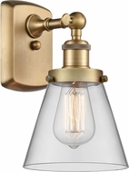 Innovations 916-1W-BB-G62-LED Ballston Small Cone Modern Brushed Brass LED Wall Lighting Sconce