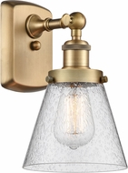 Innovations 916-1W-BB-G64-LED Ballston Small Cone Contemporary Brushed Brass LED Wall Mounted Lamp
