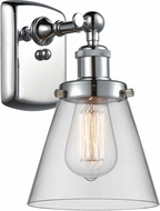 Innovations 916-1W-PC-G62-LED Ballston Small Cone Modern Polished Chrome LED Wall Lighting Sconce