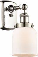 Innovations 916-1W-PN-G51-LED Ballston Small Bell Contemporary Polished Nickel LED Wall Sconce Light